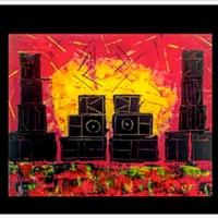 Une artiste peint les sound systems de teuf à l'acrylique